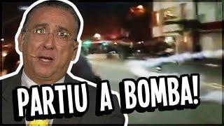 PARTIU A BOMBA! GALVÃO BUENO NARRA MANIFESTANTE CHUTANDO BOMBA DE VOLTA PARA POLÍCIA [OFICIAL]