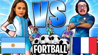 FORT-BALL: ARGENTINE vs FRANCE sur FORTNITE [épisode 1]