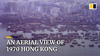 Hong Kong from the air in 1970