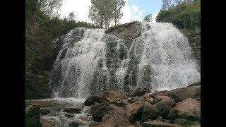 Пещерский водопад, рыбалка на озере. Алтайский край