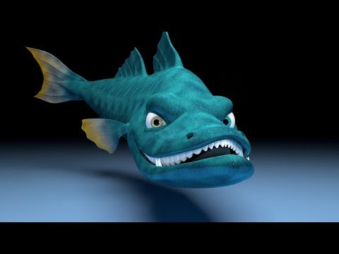 LipSync n Acting Animation - Snook fish rig [3D]