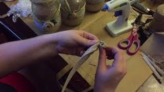 How To Make A Burlap Ribbon Flower/Rose   TUTORIAL - WEDDING DECOR
