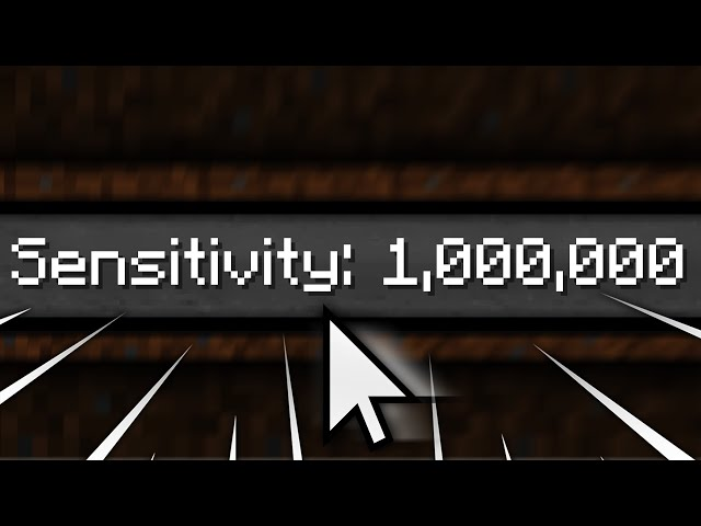 Minecraft but I try to play on 1,000,000 Sensitivity...