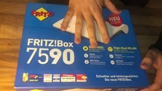 AVM FRITZ!Box 7590 High-End WLAN AC + N Router (VDSL-/ADSL bis zu 300 MBit/s) unboxing und Anleitung