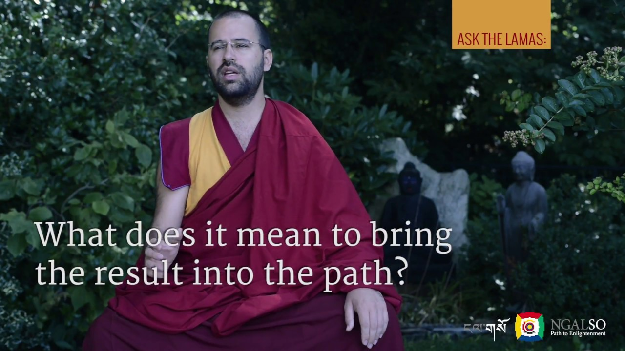 What does it mean to bring the result into the path?