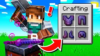 CRAFTING the ULTIMATE *OP* ARMOR in MINECRAFT!