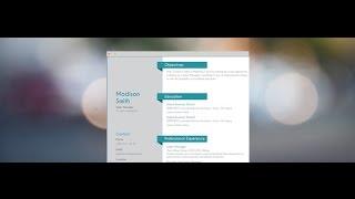 "Modern CV ""Energetic"" by Mycvfactory"
