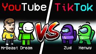 NEW Among Us YOUTUBE VS TIKTOK ROLE?! (Versus Mod)