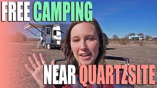 FREE BLM Camping Near Quartzsite - Arizona - Campsite Review