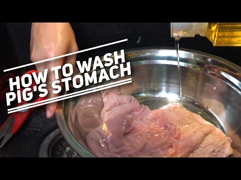 , title : 'How to Wash Pig's Stomach (hog maw) How to clean pig innards? How to remove smell from pig stomach