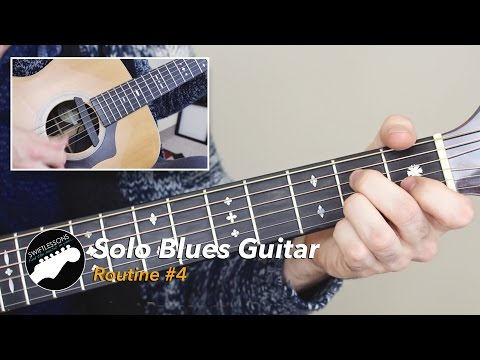 Solo Blues Guitar Lesson - Common Chords, Licks and Turnarounds - Routine #4