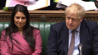 video: Boris Johnson 'sticking by' Priti Patel amid fresh allegations from third Whitehall department