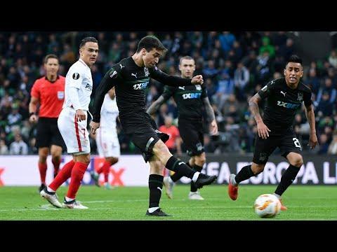Видеообзор матча Лиги Европы УЕФА-20182019 «Краснодар» (Россия) – «Севилья» (Испания)