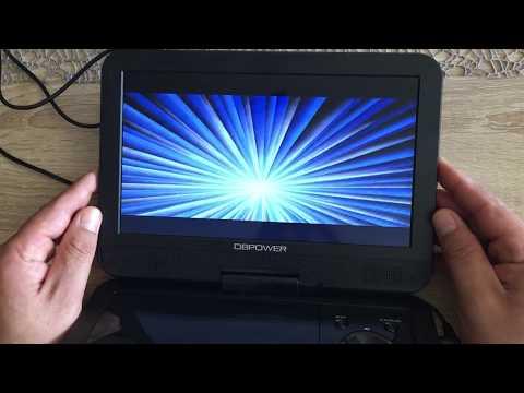 Tragbarer DVD-Player 10.5 Zoll mit Wiederaufladbarer Batterie, 1024*600 Digital TFT