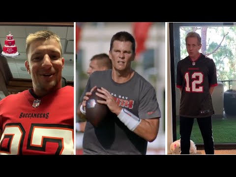 Tom Brady GRINDS On 43rd Birthday,, Skip Bayless, Gronk Have Messages For Him | Tampa Bay Buccaneers