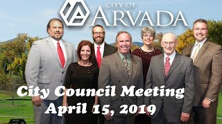 Preview image of Arvada City Council Meeting April 15 2019