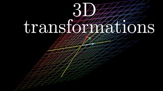 What do 3d linear transformations look like? Having talked about the relationship between matrices and transformations in the last two videos, this one exten...