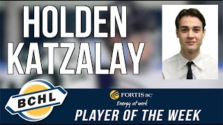 Fortis BC Player of the Week: Holden Katzalay