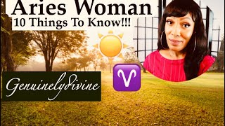 Aries Woman ♈️ 10 Things!!!
