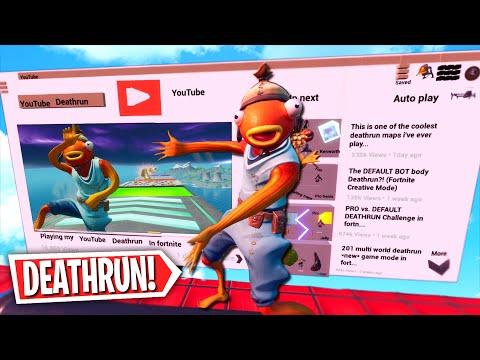The OFFICIAL YouTube Deathrun! *BEST MAP*  (Fortnite Creative Mode)