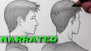 How to Draw a Face in Profile & Turning Away [Narrated]