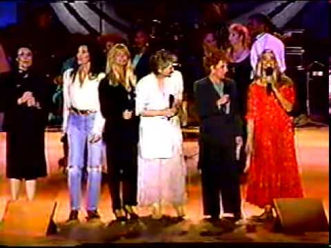 MERYL STREEP BETTE MIDLER CHER OLIVIA NEWTON JOHN GOLDIE HAWN 'WHAT A WONDERFUL WORLD'