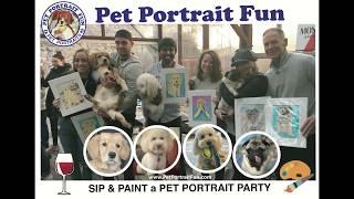 Paint and Sip Pet Portrait Fun party