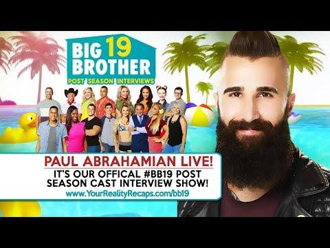 #BB19 POST SEASON SHOW: Live With Paul Abrahamian