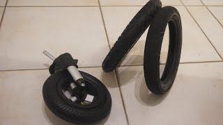 Kinderwagen Reifen und Schlauch wechseln
