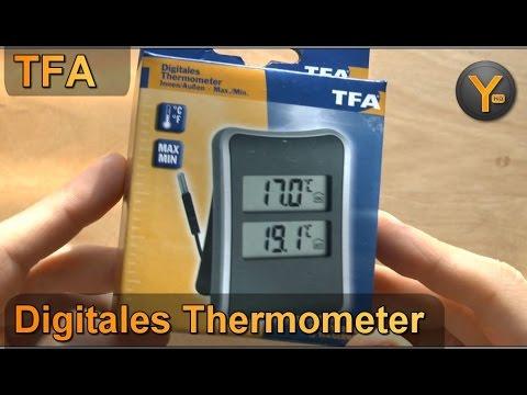 TFA 30.1044 Digitales Thermometer für Innen & Außen mit Min/Max Speicher