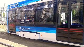 Новый Частный Трамвай Метелица Stadler 853 #58 СПб