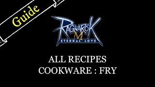 ragnarok m eternal love cooking recipe