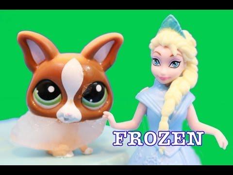 FROZEN Queen Elsa FREEZES Littlest Pet Shop LPS dog