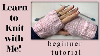 💖 Knitted Fingerless Gloves 💖 Beginner Friendly 💖