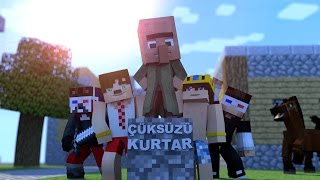 SpeedArt Minecraft Evi - Çüksüzü Kurtar Thumbnail |HG Animation| Blender