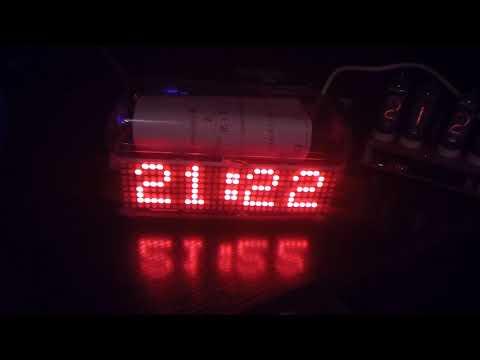 Arduino and Max7219 LED MATRIX Clock with RTC DS1307 - смотреть