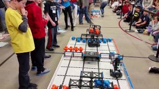 February 25, 2017 Tournament at Fall River Elementary – Finals Match with Berthoud Robotics Club's Team 1069H (Elite Machines)