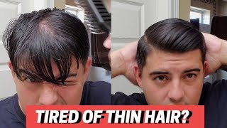 How To Style Thin Hair! Easy How To Style Mens Hair With Rio Men Haircare! Comb Over Style For Men!