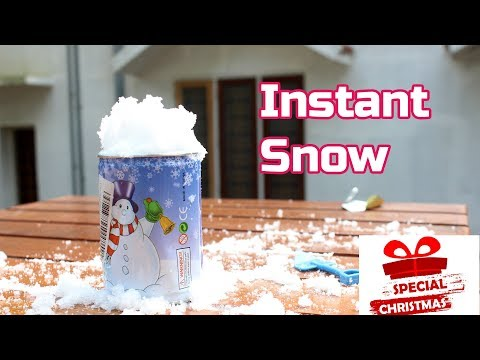 How to make Instant Snow