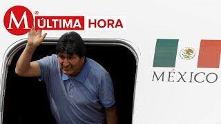 Evo Morales, ex presidente de Bolivia, llega a México