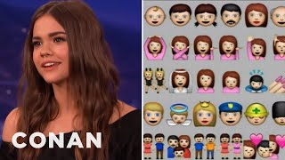 Maia Mitchell Demands Emoji Diversity  - CONAN On TBS