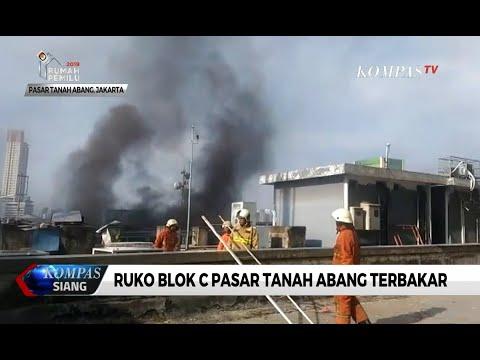 Ruko Blok C Pasar Tanah Abang Terbakar, 20 Mobil Pemadam Dikerahkan