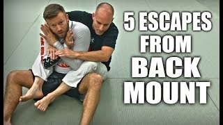 Jiu Jitsu Escapes | 5 Ways Out Of Back Mount