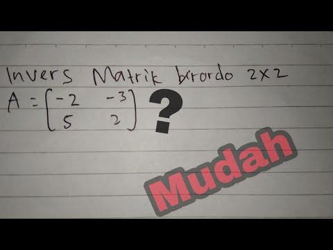 Rumus Cepat Invers Matriks 3x3 - Guru Ilmu Sosial
