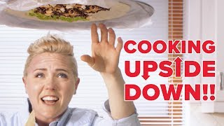 Upside Down Cooking Challenge: Giant Burrito - Video Youtube