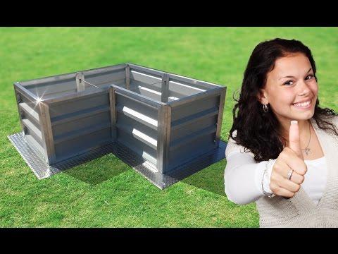 Hochbeet Metall selber bauen kaufen Bausatz bestellen günstig Angebot alu pulverbeschichtet