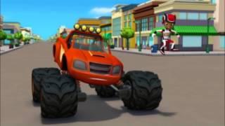 Blaze et les Monster Machines | Les pneus rebondissants | NICKELODEON JUNIOR