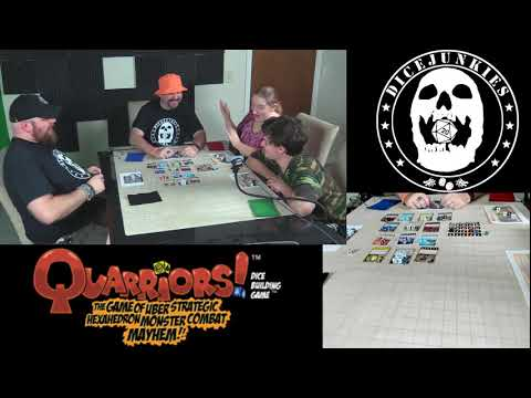 Review of WizKids Quarriors! Dice Building Game