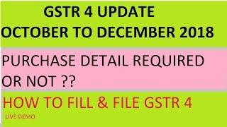 gstr 4 return filing oct to dec - मुफ्त ऑनलाइन