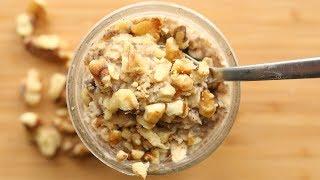 Overnight Oats Recipe - BANANA - Easy & Healthy Breakfast Ideas